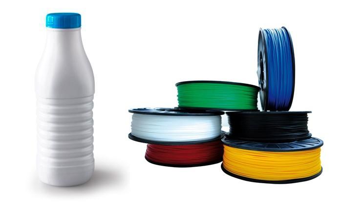 l 39 imprimante 3d recycle les bouteilles de lait la verite. Black Bedroom Furniture Sets. Home Design Ideas